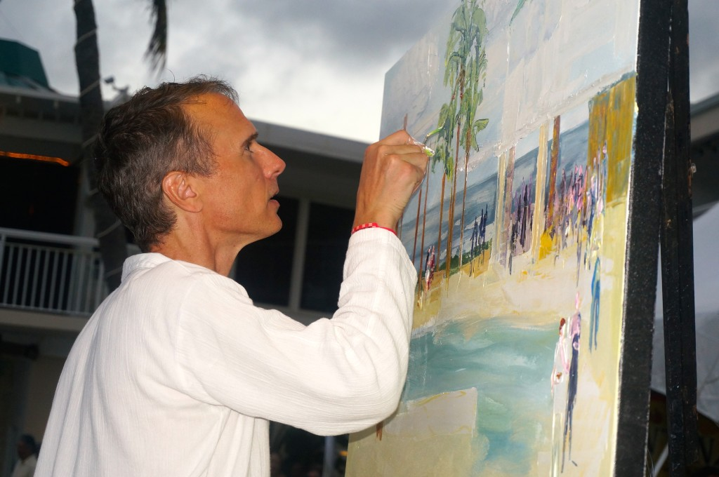 Local Artist Painting Scene at A Taste of St. Croix