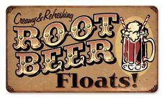 Root Beer Float Sign