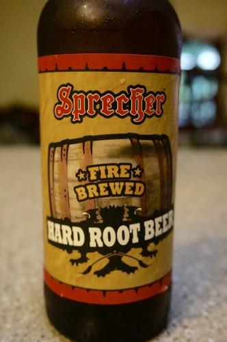 Bottle Closeup - Sprecher Fire Brewed Hard Root Beer