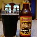 Sprecher Fire Brewed Hard Root Beer Poured Into Glass